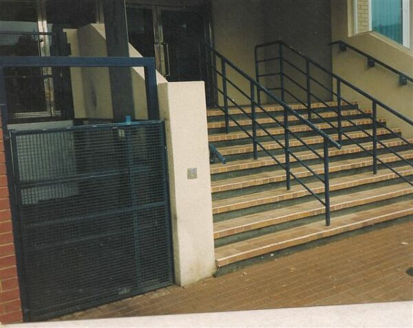 Mobility impaired wheelchair lift and goods lift vandal resistant out door